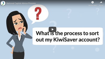 What is the process to sort out my KiwiSaver account